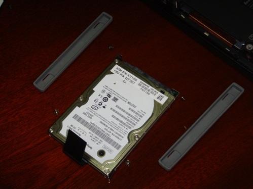 Despiece del disco duro original y su soporte