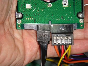 Conexiones del disco duro SATA