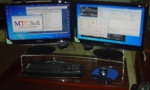Peana para monitor de ordenador